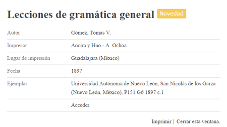Imprimir registro de la Biblioteca Virtual de la Filología Española